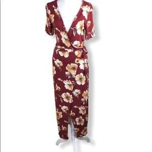 Bleuh Ciel Floral Wrap Dress